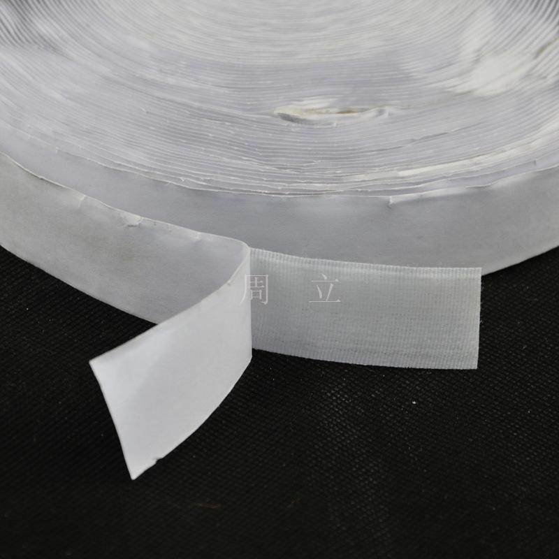 Dây cột rèm [Cung cấp giá thấp] Một nút duy nhất 2.0CM kết dính lưng màu trắng (bút trắng) cho rèm c