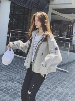 áo khoác Áo khoác nữ công sở ngắn đoạn 2019 mới xuân hè Thu phiên bản Hàn Quốc ins lỏng bf lười gió