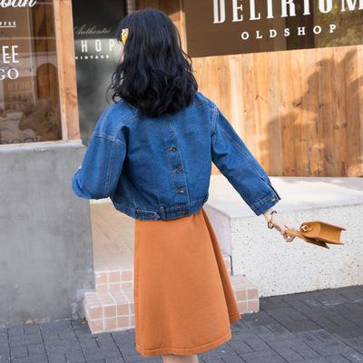Áo khoác Quần áo mùa thu 2019 nữ rộng rãi áo sơ mi dài tay nữ giản dị mới áo khoác denim kiểu mẫu mộ