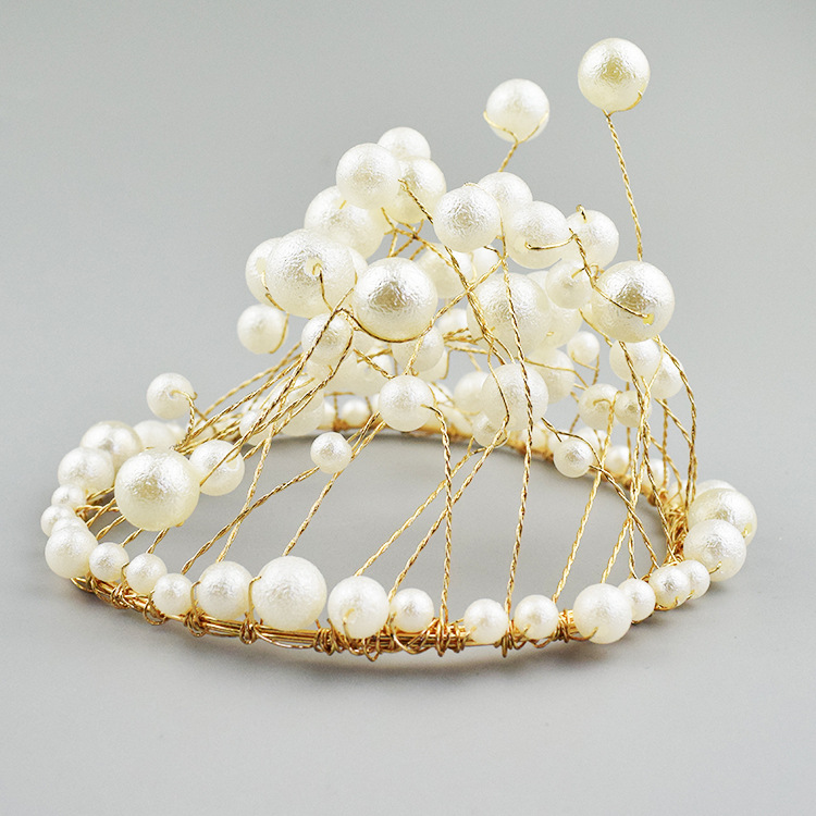Thị trường đồ chơi Trang trí bánh rán vương miện Trang trí sinh nhật Crown Pearl Crown Phụ kiện tran