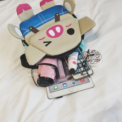 Cặp học sinh Hot 2019 trẻ em mới ba lô Piggy in phim hoạt hình túi mẫu giáo dễ thương Pig túi rắm nh