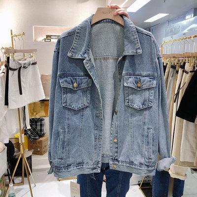 áo khoác Gian hàng phiên bản Hàn Quốc của BF gió denim áo khoác nền hoang dã denim denim lỏng áo kho