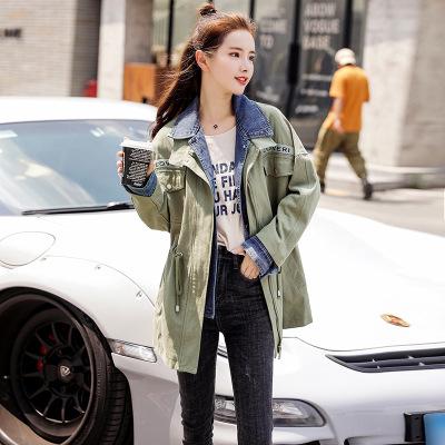 áo khoác Mùa thu 2019 mới của phụ nữ thời trang Hàn Quốc áo sơ mi nữ denim áo khoác dài tay giản dị