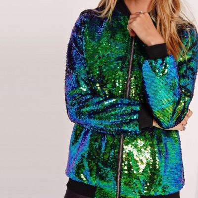 Áo khoác Các nhà sản xuất bán buôn áo khoác sequin mùa thu cho phụ nữ châu Âu và Hoa Kỳ