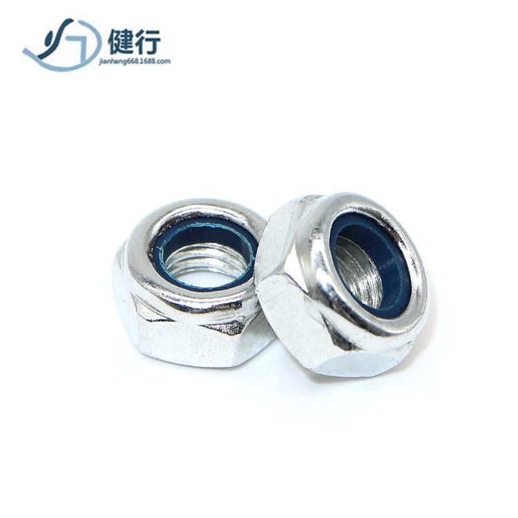 RONGYAO Tán Đai ốc bằng thép carbon bằng thép trắng Đai ốc tự khóa kẽm Đai ốc M6M8M10 Nhà sản xuất P