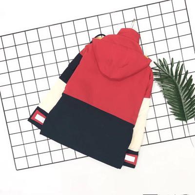 Áo khoác trẻ em  19 mùa thu mới dây kéo trùm đầu khâu áo khoác quần áo trẻ em Phiên bản Hàn Quốc của