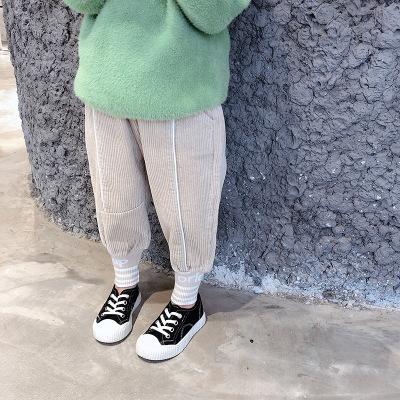 Quần trẻ em  Little boy ngựa 2019 mùa thu Phiên bản Hàn Quốc của quần trẻ em bé gái chân chữ quần nh