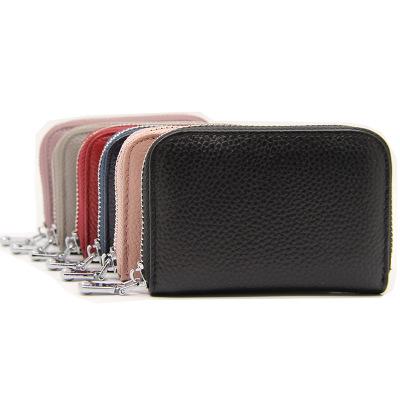 Ví đựng thẻ  Lớp đầu tiên của gói thẻ da organ RFID chống trộm nữ chủ thẻ nam gói thẻ đa chức năng d