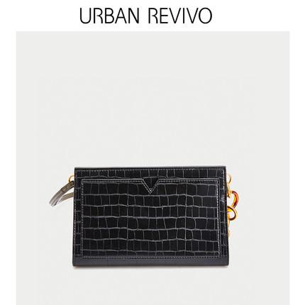 Túi xách nữ thời trang  UR ĐÔ LA REVIVO2019 hè mới dành cho nữ thanh niên phụ kiện kẻ sọc túi đeo c