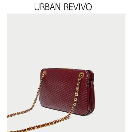 Túi xách nữ thời trang  URBAN REVIVO2019 phụ kiện mới dành cho nữ dây kéo xe túi Messenger AG02RB4E
