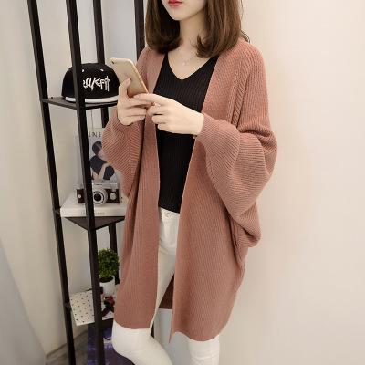 áo khoác Mùa thu và mùa đông phiên bản mới của Hàn Quốc với phần áo len dệt kim dày đan dài mùa xuân