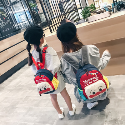 Cặp học sinh Hot  2018 bánh mì mới Siêu nhân túi trẻ em hoạt hình phim hoạt hình chú hề học sinh nam