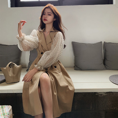 áo khoác Lin Shanshan, mùa thu mới, khoác lên mình chiếc áo gió khâu tay ấm áp của Pháp rằng bạn là