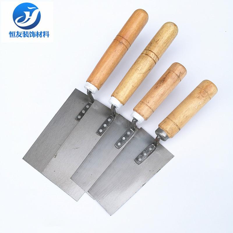 HENGYOU Công cụ nghề mộc Bùn xẻng kích thước lớn màu xám muỗng ốp lát bùn đất trowel thợ thủ công ng