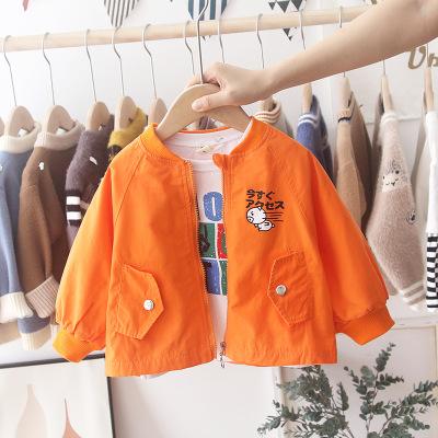 Áo khoác trẻ em  Quần áo bé trai 2019 mùa thu mới bé phim hoạt hình heo áo dài tay áo sơ mi giản dị