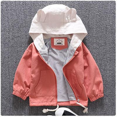Áo khoác trẻ em  Áo khoác bé gái 2019 mới cho bé ngoại mùa thu quần áo trẻ em áo gió mùa xuân và mẫu