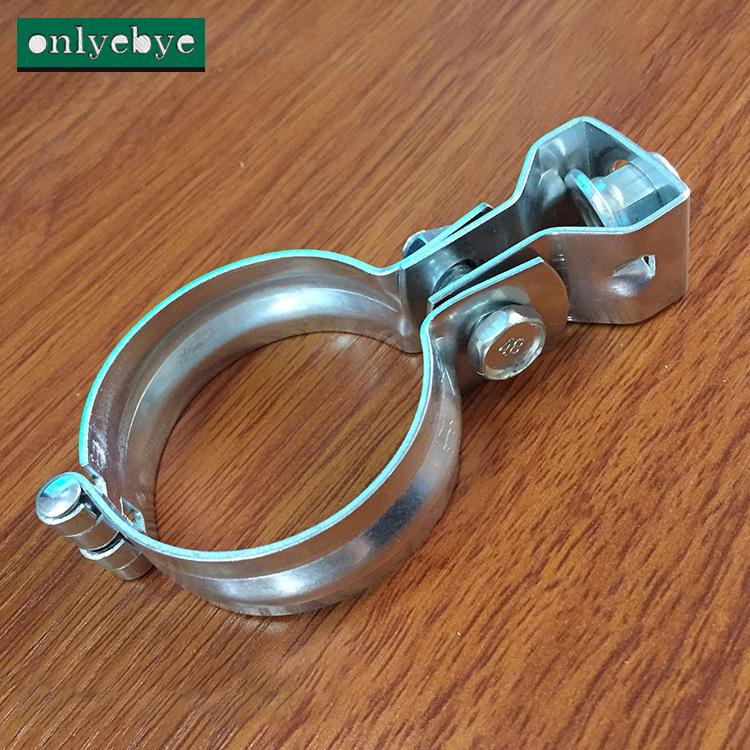HENGDEGU Ống kẹp Hengde rắn sắt mạ kẽm đèn lồng bản lề phổ kẹp hoop kẹp điều hòa không khí kẹp ống g