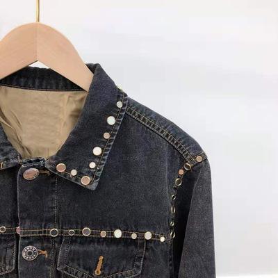 Áo khoác Thương hiệu nổi tiếng SA áo khoác denim công nghiệp nặng 2019 mùa thu mới phiên bản Hàn Quố