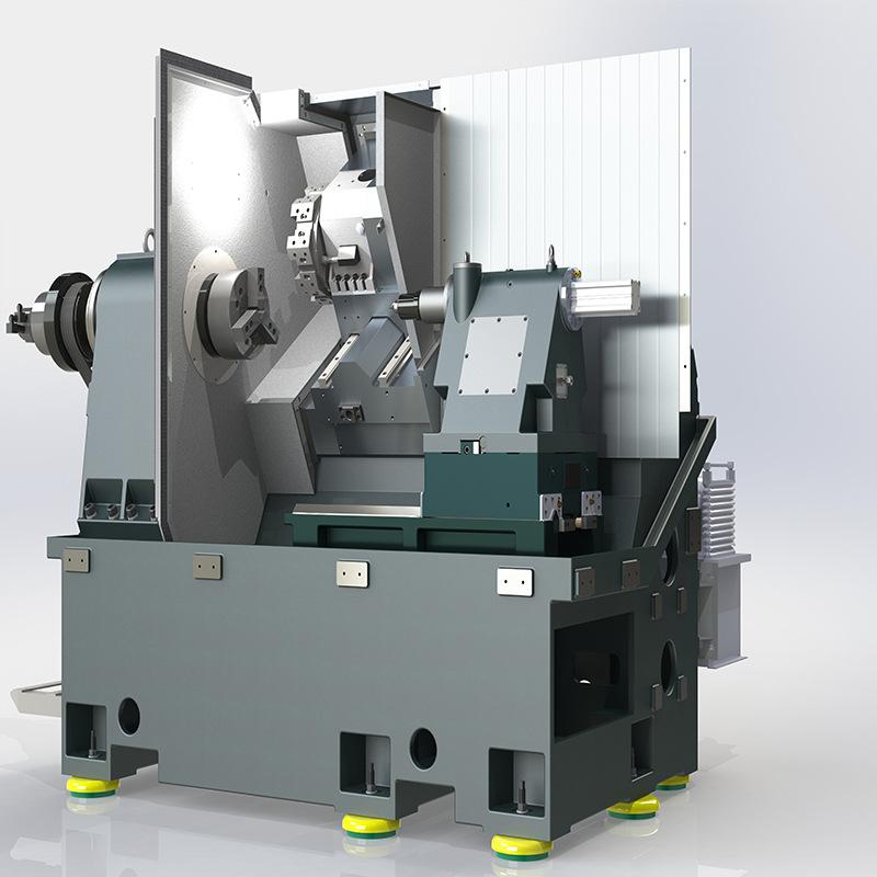ZHNOGJIE Máy tiện CNC tự động TCK50 số giường nghiêng Máy tiện CNC