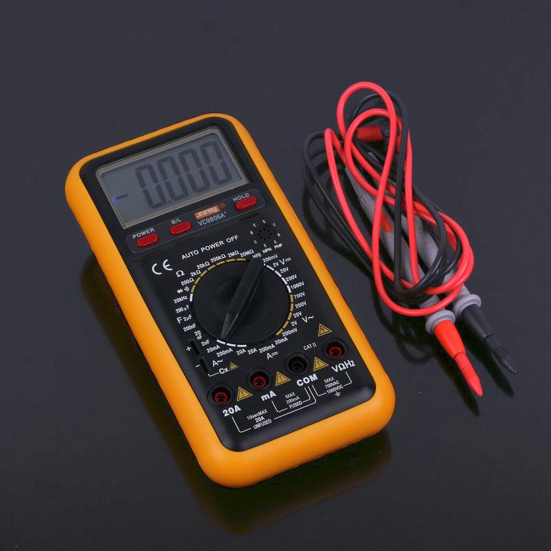 BINJIANG Đồng hồ đo nhiệt độ , độ ẩm Cung cấp Riverside VC9806A + tụ điện vạn năng kỹ thuật số pin đ
