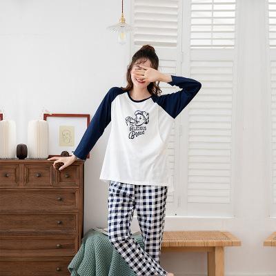 Trang phục trong tháng (sau sinh) Mùa xuân và mùa thu mới bà bầu đồ ngủ kích thước lớn quần áo sau s