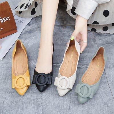 giày bệt nữ Giày đơn nữ 2019 mới mùa hè hoang dã giày đậu nông miệng giày đế mềm đế mềm đế bằng giày