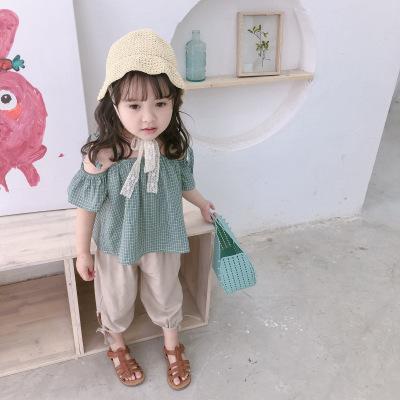 Áo ba lỗ  / Áo hai dây trẻ em Áo phông trẻ em 2019 cho bé gái mùa hè Áo kẻ sọc Hàn Quốc Áo ren cho t