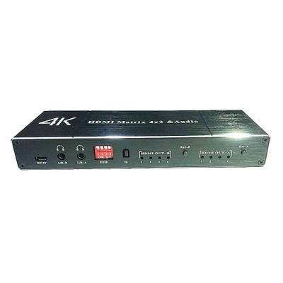 Hệ thống giám sát Matrix Ma trận HDMI 4 trong 2 ra HDMI4X2 sợi đầu ra âm thanh kép Bộ chia công tắc