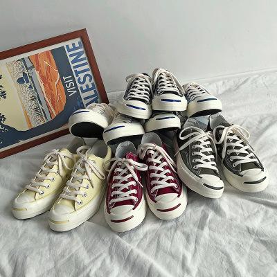 giày vải Siyi Mistery retro mở nụ cười giày vải thập niên 1970 Học sinh mới Phiên bản tiếng Hàn của