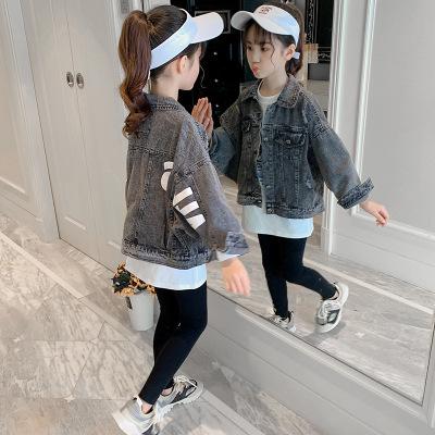 Trang phục Jean trẻ em Mùa thu 2019 quần áo trẻ em mới trẻ em phiên bản Hàn Quốc của các cô gái deni