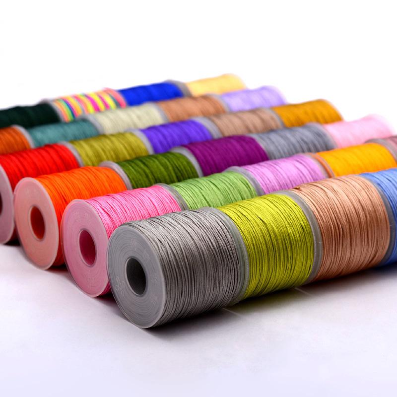 LONGJIE đai , dây , chỉ Rồng nút 72 dòng ngọc bích handmade vòng cổ đan dây trang sức dây 80 màu tươ