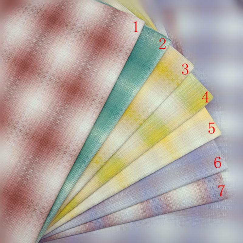 Vải Yarn dyed / Vải thun có hoa văn Vải jacquard nhuộm bông Vải kẻ sọc đầu tiên Gradient vải chắp vá