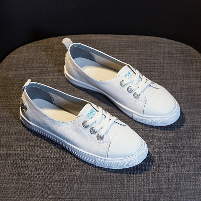 giày bệt nữ Giày trắng nhỏ nữ phiên bản Hàn Quốc mùa xuân và mùa thu mới hoang dã da lười cơ bản già