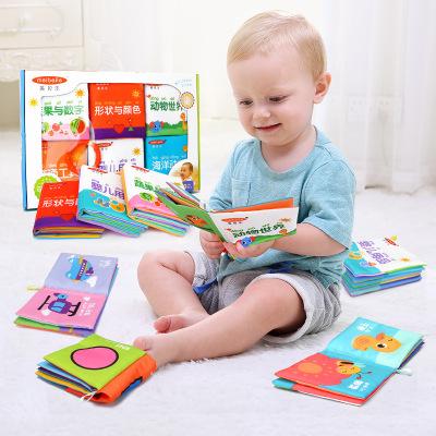 sách vải Đồ dùng dạy trẻ sơ sinh bằng vải vải Cuốn sách bé vải giáo dục sớm Giáo dục đồ chơi cho bé