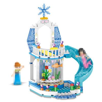 Bộ đồ chơi rút gỗ 37026 cô gái loạt tưởng tượng tuyết cảnh đồ chơi lắp ráp khối