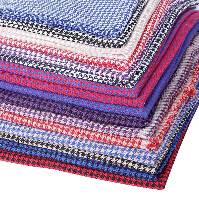WEIZHENG Vải Yarn dyed / Vải thun có hoa văn Phong cách Houndstooth Vải polyester và vải lanh Vải co