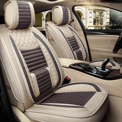 ZHIZONG Drap bọc ghế xe hơi Vải lanh xe nằm ngang đệm bốn mùa phổ quát bao gồm tất cả các loại ghế b