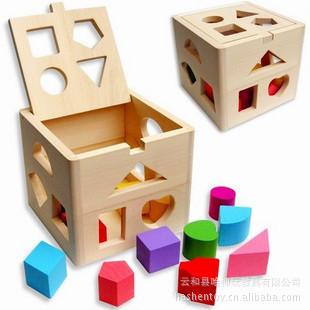 Đồ giảng dạy trẻ sơ sinh Đồ chơi giáo dục bằng gỗ Đồ chơi của trẻ em Hộp thông minh mười ba lỗ Hình