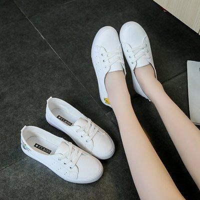 giày bệt nữ Giày trắng cơ bản hoang dã Giày nữ 2019 mùa thu phẳng Giày mùa thu Giày thủy triều mùa t