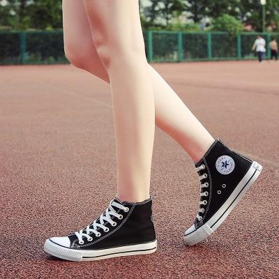 Giày Sneaker / Giày trượt ván Đôi giày vải cổ điển nữ giày cao cổ phẳng nam và giày nữ Phiên bản Hàn