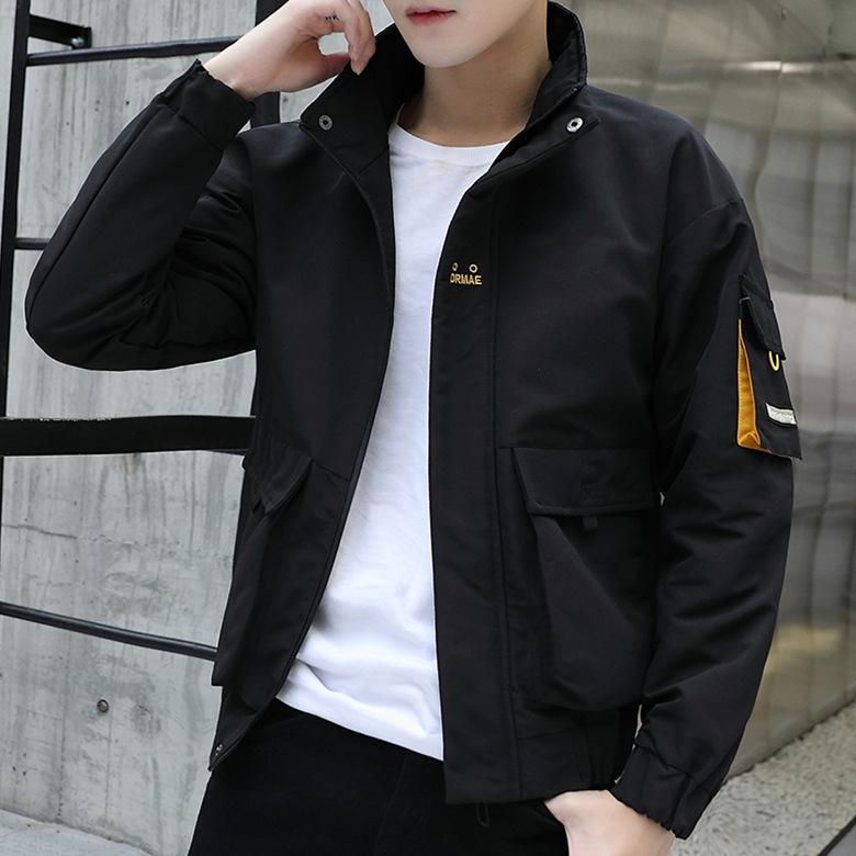 MINGYI Áo khoác nam ngoại thương mùa thu và mùa đông nam mới xu hướng áo khoác trẻ đứng cổ áo khoác