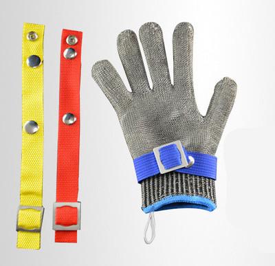 Găng tay chống cắt  Găng tay chống cắt Thép không gỉ lớp 5 dây thép vòng sắt Găng tay giết mổ và may