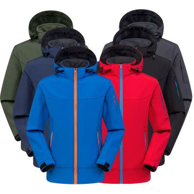 Lót nỉ Soflshell Mùa thu và mùa đông quần áo vỏ mềm ngoài trời cho nam và nữ mẫu chống gió ấm áp cộn