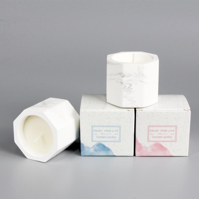 NLSX Nến Nhà sản xuất Bán buôn Đá cẩm thạch Thạch cao Nến thơm Cây tự nhiên Sáp Dừa không khói Nến t