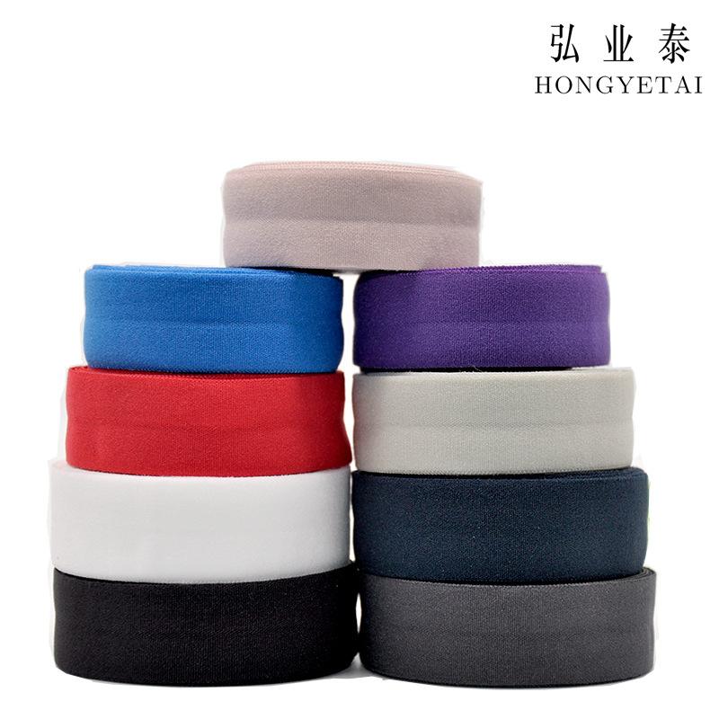 HONGYETAI Dây thun Ribbon nhà sản xuất bán buôn 2.0CM sidebands Xuống còng gấp cạnh 7070 nylon đàn h