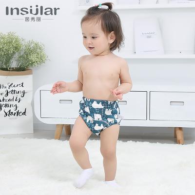 Tả vải Yin Xiuli 2 tải cotton có thể giặt quần đào tạo cho bé học quần 6 lớp tã gạc quần bé cung cấp