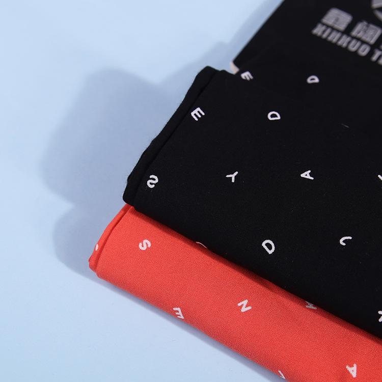 Vải Visco (Rayon) Khắc vải in bông 110g chữ nhỏ in vải in rayon