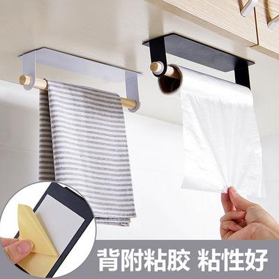 FENGSHANGYUAN Kệ khăn tắm Dán tường treo khăn thanh miễn phí đấm sắt rèn giá kệ Nhà bếp giẻ rách giá