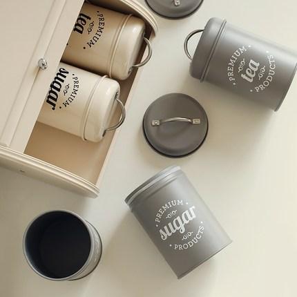 QUAJIASI  Hũ kim loại Hạt thùng canister lưu trữ bột kín cà phê đóng gói trà có thể gió bằng chứng b