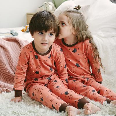 Đồ ngủ trẻ em Đồ lót trẻ em nhiệt cho bé trai bộ đồ mùa thu và mùa đông cho bé quần áo mùa thu quần